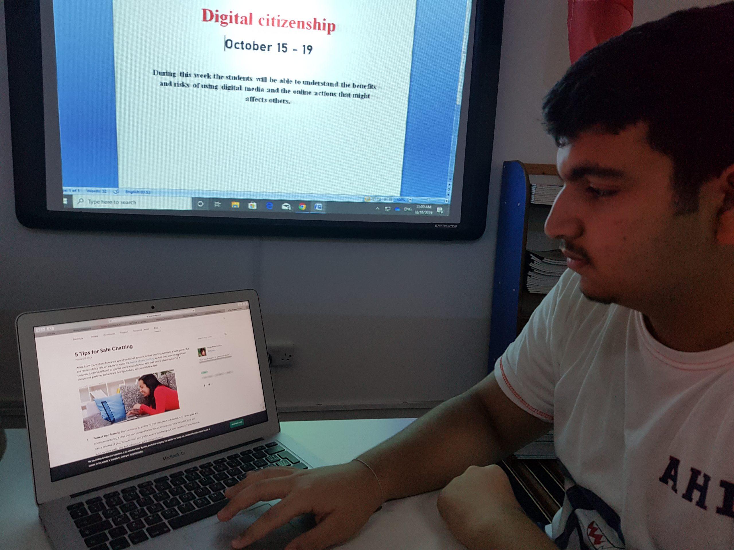 Digital Citizencship Week 2019 – 2020