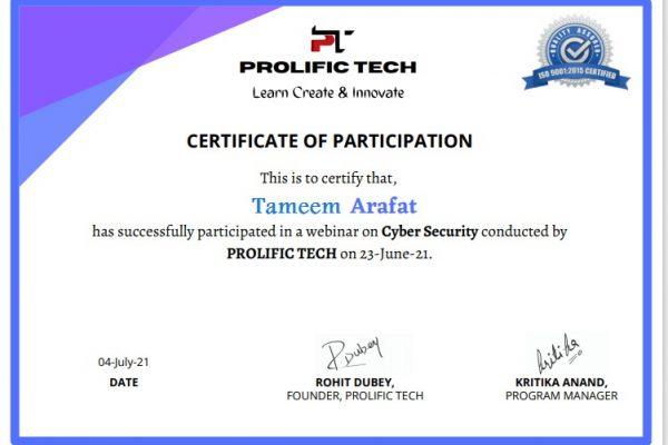 Cybersecurity webinar with Prolific Tech company (18)