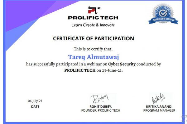 Cybersecurity webinar with Prolific Tech company (19)