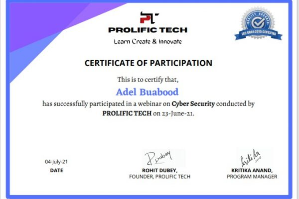 Cybersecurity webinar with Prolific Tech company (20)
