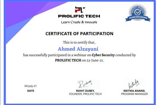 Cybersecurity webinar with Prolific Tech company (4)